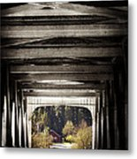 Grave Creek Covered Bridge Metal Print