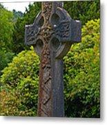 Grave Cross 4 Metal Print