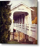 Grave Creek Covered Bridge Metal Print