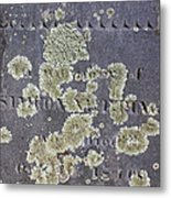 Gravestone With Lichen Metal Print
