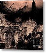 Graveyard At Night Metal Print