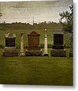 Graveyard Landscape Photograph Metal Print