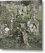 Graveyard Monuments And Gravestones Metal Print