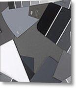 Gray Card Checker O Meter Metal Print