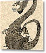 Gray Dragon Metal Print