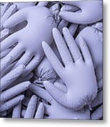Gray Hands Metal Print