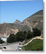 Gray Whale Cove State Beach Montara California 5d22614 Metal Print by Wingsdomain Art and Photography