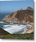 Gray Whale Cove State Beach Montara California 5d22618 Metal Print by Wingsdomain Art and Photography