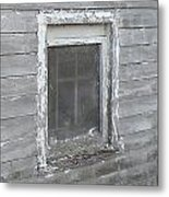 Gray Window Metal Print