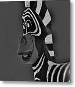 Gray Zebra Metal Print