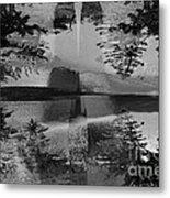 Grayscale Vision Trip Metal Print