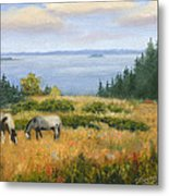 Grazing With A View Metal Print