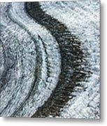 Great Aletsch Glacier Moraine Metal Print