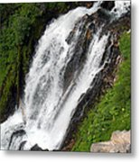Great Angle Of Red Blanket Falls Metal Print