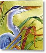 Great Blue Heron Metal Print by Lyse Anthony