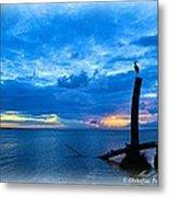 Great Blue Heron Sunrise Metal Print