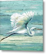 Great Egret I Metal Print