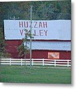 Great Fall View Of Huzzah Barn Metal Print