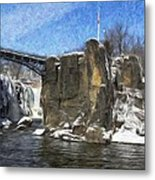 Great Falls Painted Metal Print