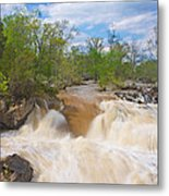 Great Falls White Water #5 Metal Print