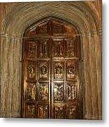 Great Hall Entrance Door Metal Print