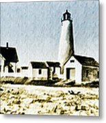 Great Point Lighthouse Nantucket Metal Print