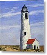 Great Point Lighthouse Nantucket Massachusetts Metal Print