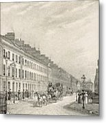 Great Pultney Street, Bath, C.1883 Metal Print