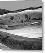 Great Sand Dunes - 1 - Bw Metal Print