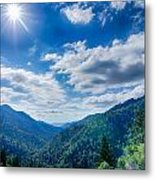 Great Smoky Mountains National Park On North Carolina Tennessee  Metal Print