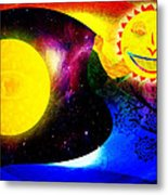 Great Sun Jester And The Night Sky Metal Print