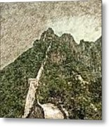 Great Wall 0033 - Colored Photo 2 Sl Metal Print