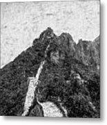 Great Wall 0033 - Graphite Drawing Sl Metal Print