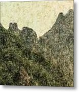 Great Wall 0043 - Colored Photo 2 Metal Print