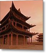 Great Wall Pagoda At Sunset Metal Print by Gordon  Grimwade
