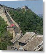 Great Wall Red Umbrella Metal Print