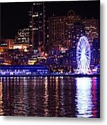 Great Wheel In Seattle Metal Print