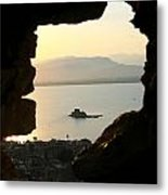 Greece-nafplio Bourtzi From Castle Metal Print