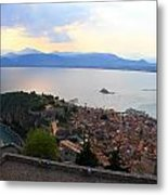 Greece-nafplio Castle Metal Print