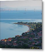 Greece. The Rioantirrio Bridge Metal Print