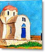 Greek Church 4a Metal Print