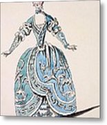 Greek Costume For The Chorus Metal Print