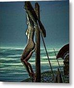 Greek Crucifixion Scene II Metal Print