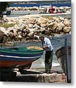 Greek Fisherman Metal Print