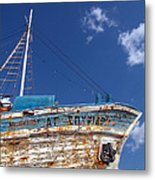 Greek Fishing Boat Metal Print