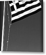 Greek Flag Metal Print