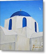 Greek Island Church  Metal Print