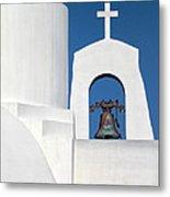 Greek Island Church Metal Print