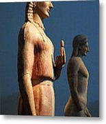 Greek Sculpture Athens 1 Metal Print by Bob Christopher