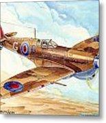 Greek Squadron Spitfire Metal Print